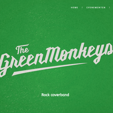 Website voor The Green Monkeys