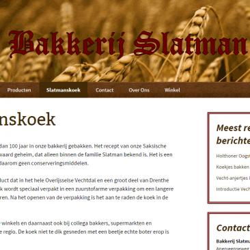 Website voor Bakkerij Slatman