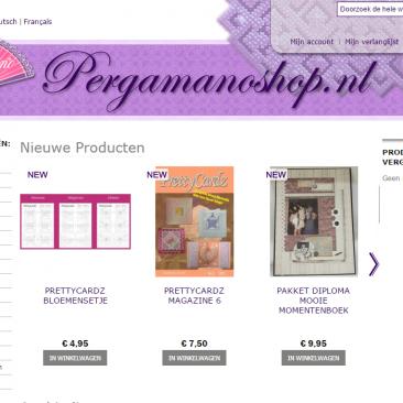 Webshop voor Pergamanoshop.nl