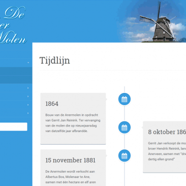 Website Stichting De Anermolen